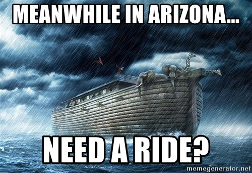 meanwhile in arizona need a ride meanwhile in arizona need a ride? noahs ark flood meme