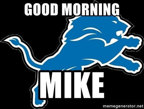 detroit lions logo good morning mike