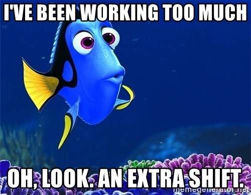 working too much