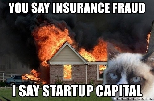 grumpy cat 8 - You say insurance fraud I say startup capital