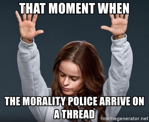 Image result for morality  police meme