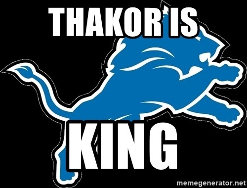 detroit lions logo thakor is king