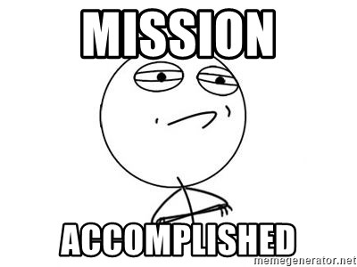 Challenge Accepted HD 1 - mission accomplished