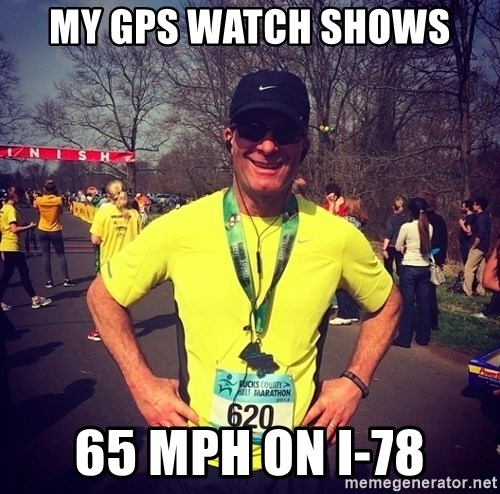 MikeRossiCheat - MY GPS watch shows  65 mph on I-78