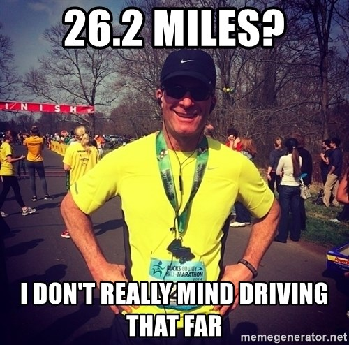 MikeRossiCheat - 26.2 miles? i don't really mind driving that far