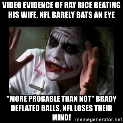 video evidence of ray rice beating his wife nfl barely bats an eye more probable than not brady defl video evidence of ray rice beating his wife, nfl barely bats an