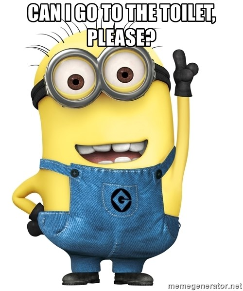 CAN I GO TO THE TOILET  PLEASE    Despicable Me Minion. CAN I GO TO THE TOILET  PLEASE    Despicable Me Minion   Meme