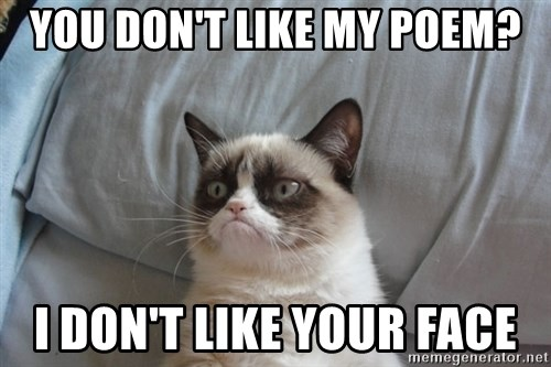 Image result for i dont like poetry