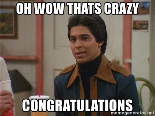 oh wow thats crazy congratulations oh wow thats crazy congratulations fez meme generator,Wow Meme Generator