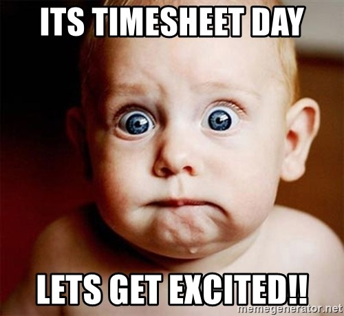 Its Timesheet Day Lets Get Excited!! - Babyscary