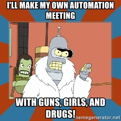 Blackjack and hookers bender - I'll make my own automation meeting with guns, girls, and drugs!