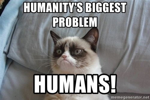 Grumpy cat good - Humanity's biggest  problem  HUMANS!