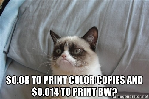 008 To Print Color Copies And 0014 BW