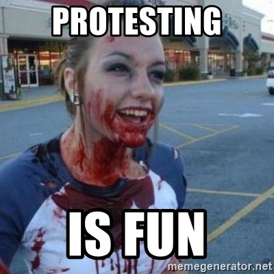 Scary Nympho - Protesting is fun