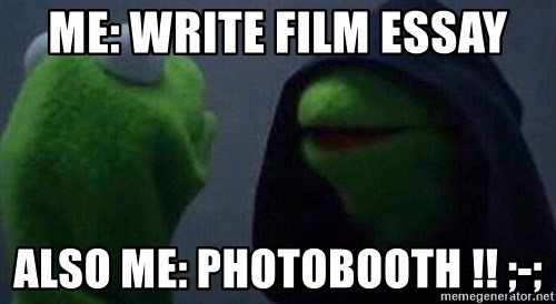 me write film essay also me photobooth evil kermit  evil kermit me write film essay also me photobooth