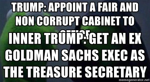 Trump: appoint a fair and non corrupt cabinet to office Inner ...