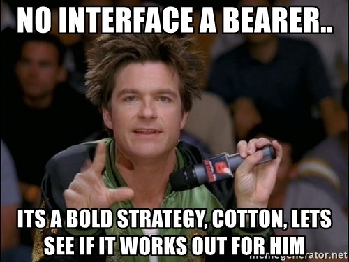 Bold Strategy Cotton - NO INTERFACE A BEARER.. ITS A BOLD STRATEGY, COTTON, LETS SEE IF IT WORKS OUT FOR HIM