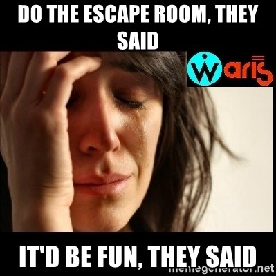 Mehbooba - Do the escape room, they said It'd be fun, they said