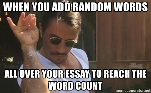 when you add random words all over your essay to reach the word  when you add random words all over your essay to reach the word count salt bae