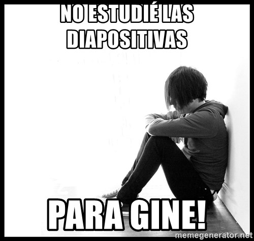 First World Problems - No estudié las diapositivas  Para gine!