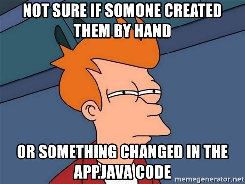 Futurama Fry - not sure if somone created them by hand or something changed in the App.java code