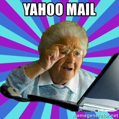 old lady - yahoo mail