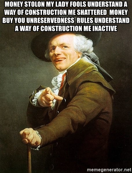 Ducreux - Money stolon my lady