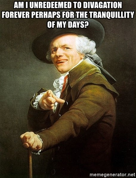 Ducreux - Am I unredeemed to divagation forever Perhaps for the tranquillity of my days?