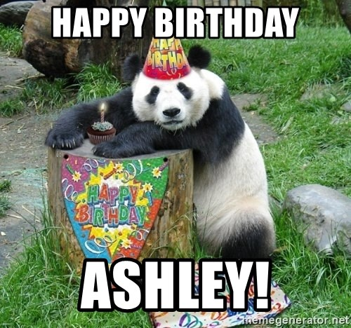 Happy Birthday Panda - happy Birthday Ashley!