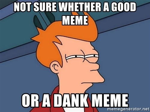Futurama Fry - Not sure whether a good meme Or a dank meme