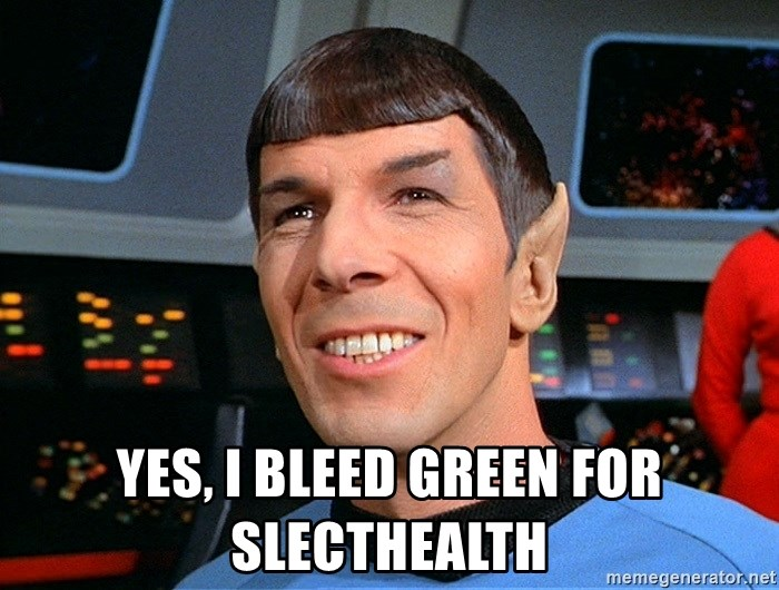 smiling spock -  Yes, I bleed Green for slecthealth