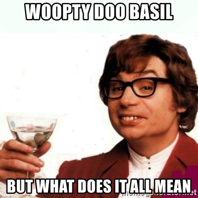 Austin Powers Drink - Woopty doo basil But what does it all mean