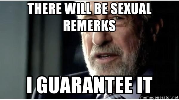 mens wearhouse - There will be sexual remerks i guarantee it