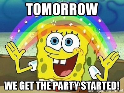Imagination - TOMORROW WE get the party started!