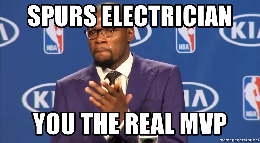 KD you the real mvp f - Spurs ELECTRICIAN  you the real mvp
