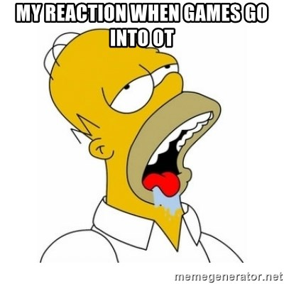 Homer Simpson Drooling - my reaction when games go into OT