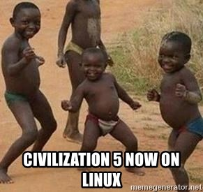 african children dancing -  CIVILIZATION 5 now on linux