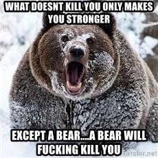 Cocaine Bear - What doesnt kill you only makes you stronger Except a bear....a bear will fucking kill you