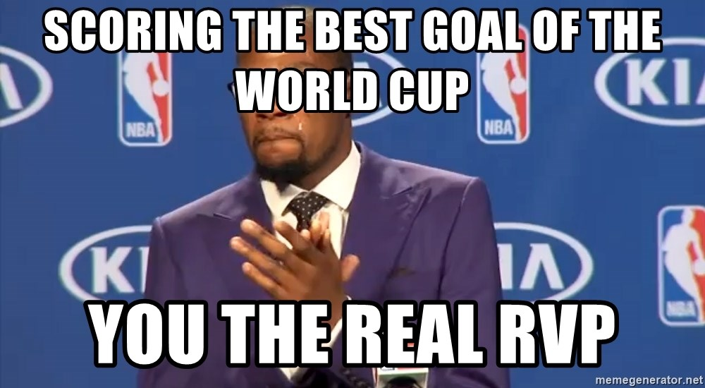 KD you the real mvp f - Scoring the best goal of the world cup you the real rvp