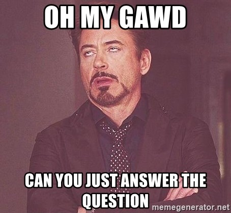 Robert Downey Jr rolls eyes - Oh my gawd can you just answer the question