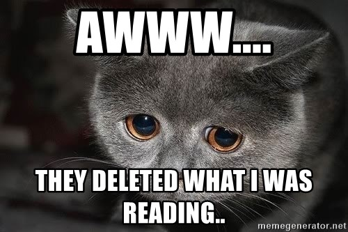 sad cat - AWWW.... THEY DELETED WHAT I WAS READING..