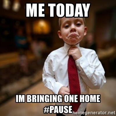 Alright Then Business Kid - me today im bringing one home #Pause