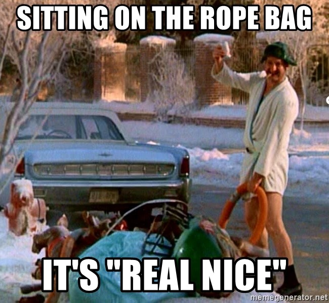 "Cousin Eddie - Sitting on the rope bag It's ""real nice"""