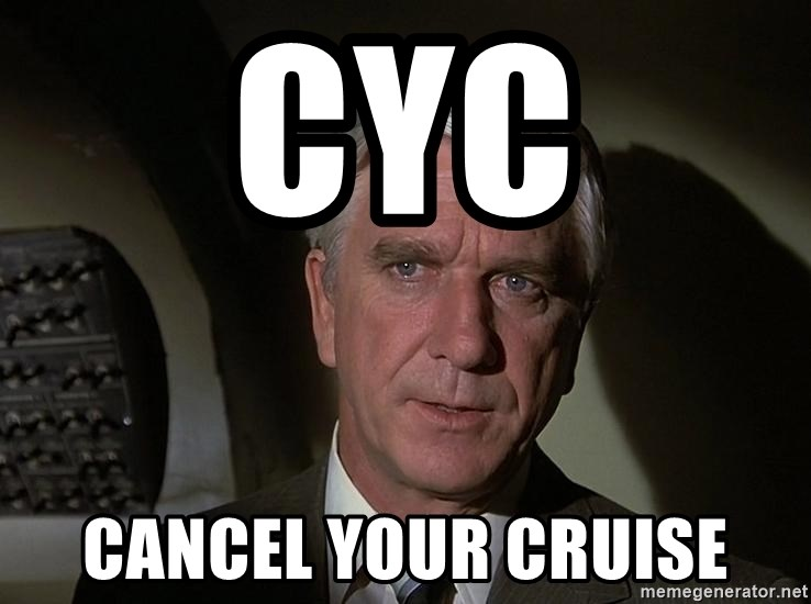 Leslie Nielsen Shirley - CYC Cancel your cruise