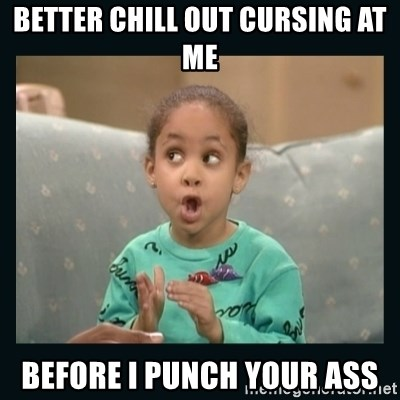 Raven Symone - better chill out cursing at me before i punch your ass