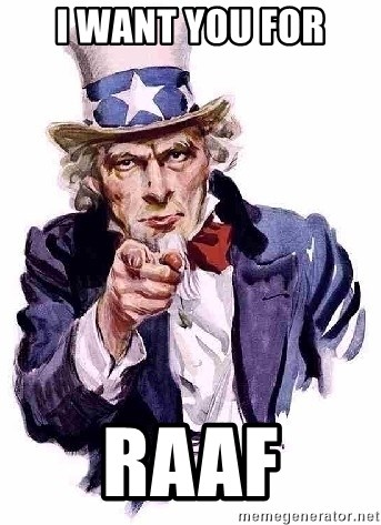 Uncle Sam Says - i want you for raaf