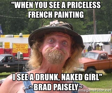 A priceless french painting i see a drunk naked picture 161