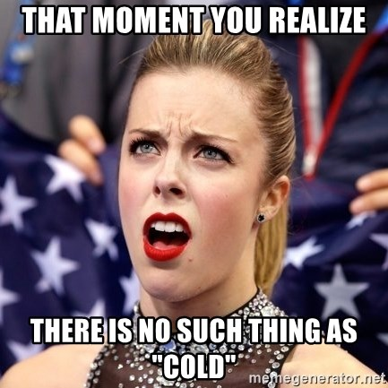 """Ashley Wagner Shocker - That moment you realize there is no such thing as """"cold"""""""