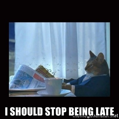 i should buy a boat cat -  I SHOULD STOP BEING LATE