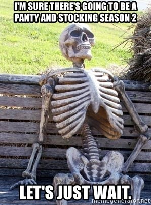 Waiting Skeleton - I'm sure there's going to be a panty and stocking season 2 Let's just wait.